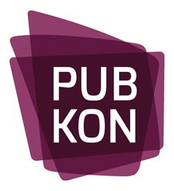 Das Logo der PUBKON zeigt 3 stilisierte Blätter und den Schriftzug PUBKON